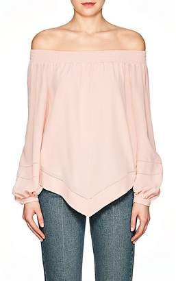 Derek Lam Women's Silk Crepe Off-The-Shoulder Blouse