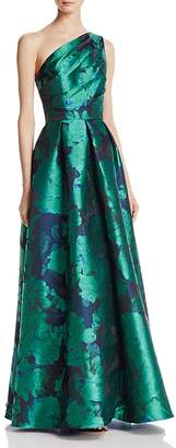 Carmen Marc Valvo Infusion One Shoulder Gown $450 thestylecure.com