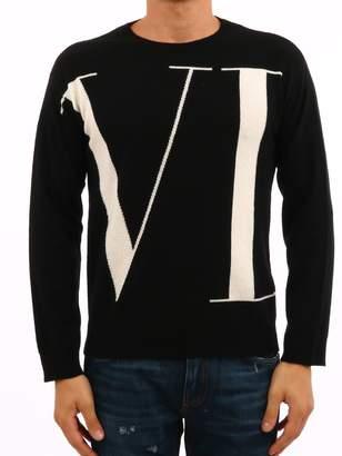 Valentino Black Crewneck Sweater