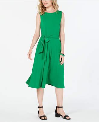 Charter Club Tie-Waist Midi Dress