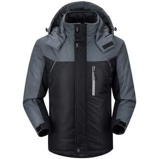 a06cdcf042a Pervobs Men Coat Jacket Clearance Mens Jacket! Pervobs Men Winter Warm Jacket  Parka Hooded Zip Thick