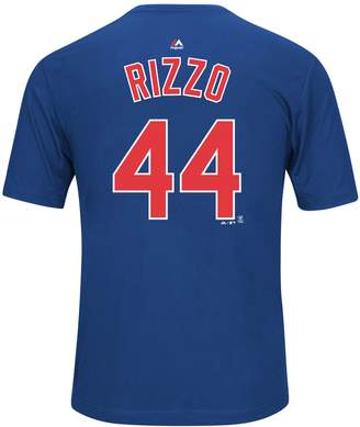 Majestic Men's Chicago Cubs Anthony Rizzo Player Name and Number Synthetic Tee
