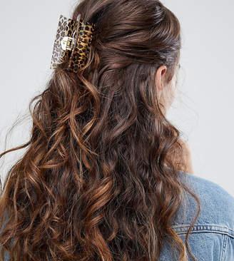 Glamorous leopard print bulldog hair clip