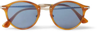 Persol Round-Frame Tortoiseshell Acetate And Gold-Tone Sunglasses
