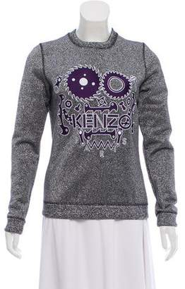 Kenzo Embroidered Metallic Sweatshirt