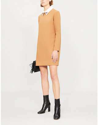 Maje Ragone embellished-collar twill mini dress