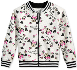 Disney's® Minnie Mouse Quilted Bomber Jacket, Big Girls (7-16) $46 thestylecure.com