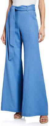Alexis Alenka Belted Wide-Leg Linen Pants