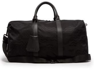 Neil Barrett Camouflage Leather Trimmed Nylon Holdall - Mens - Black