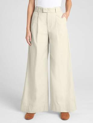 Gap High Rise Pleated Wide-Leg Chinos