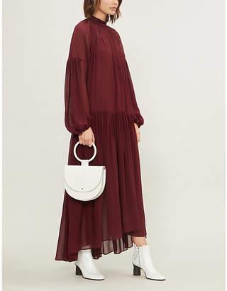 Stella McCartney Tiffany high-neck silk-chiffon gown
