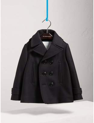 Burberry Wool Cashmere Pea Coat with Down-filled Gilet