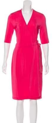 Just Cavalli Half Sleeve Midi Wrap Dress