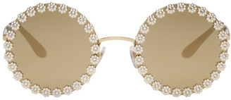 Dolce & Gabbana Gold Studded Daisy Sunglasses $715 thestylecure.com