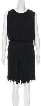 Lanvin Fringe Knee-Length Dress