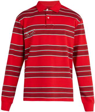 Martine Rose Striped long-sleeved polo shirt