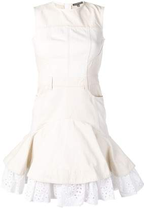 Alexander McQueen Broderie Anglaise denim dress