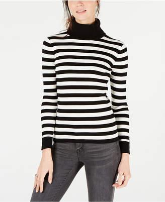 Tommy Hilfiger Cotton Striped Turtleneck Sweater