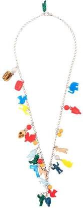 Marni long charm necklace