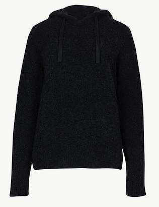 Marks and Spencer Textured Hooded Jumper