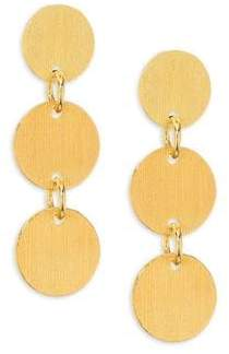 Nest Brushed Disc Drop Earrings