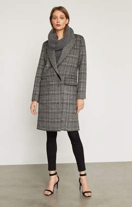 BCBGMAXAZRIA Valentina Glen Plaid Long Coat