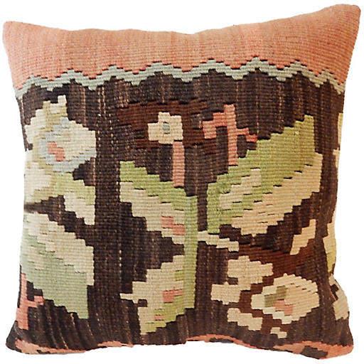 Old Tribal Turkish Kilim Pillow