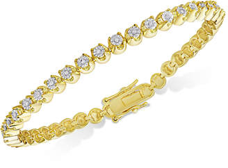 Townsend Victoria Diamond Miracle Line Tennis Bracelet (1/4 ct. t.w.) in 18k Gold-Plated Sterling Silver or Sterling Silver