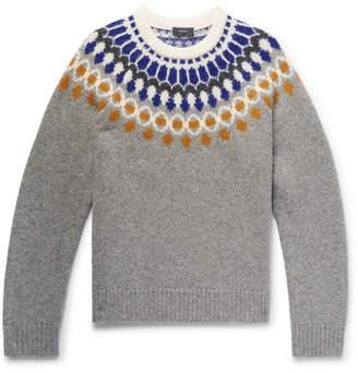 Joseph Fair Isle Shetland Wool Sweater