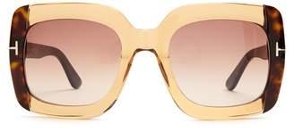 Tom Ford Square Frame Sunglasses - Womens - Beige
