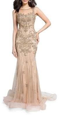 Terani Couture Glamour by Lace Mermaid Gown