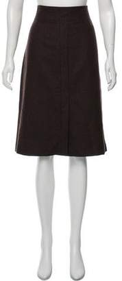 Akris Wool Knee-Length Skirt
