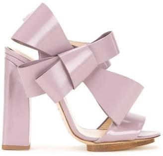 DELPOZO oversized bow sandals