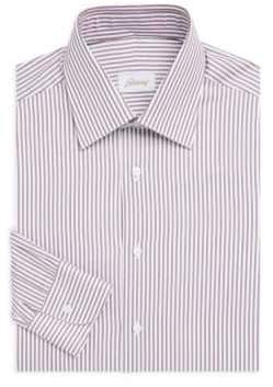 Brioni Bengal Classic-Fit Cotton Dress Shirt