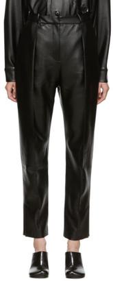 Materiel Tbilisi SSENSE Exclusive Black Vegan Leather Trousers
