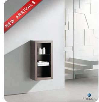 "Fresca FST8130 32"" Wall Mounted Bathroom Linen Cabinet with Three Shelves"