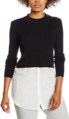 Mexx Women Pullover Jumper, (Black), X-Large