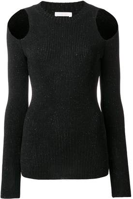 See by Chloe cold shoulder knitted top