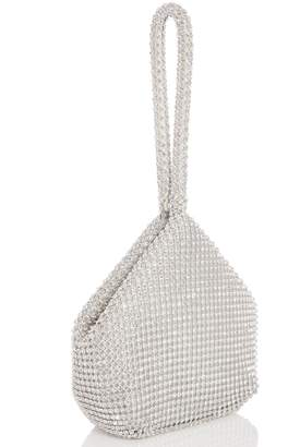 Dorothy Perkins Womens *Quiz Silver Diamante Pouch Bag
