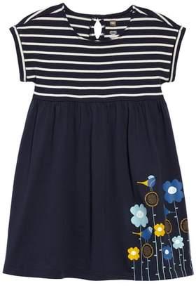 Tea Collection Stripe & Floral Print Dress