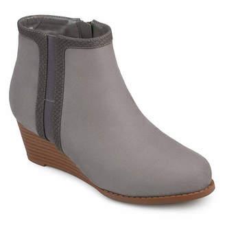 Journee Collection Womens Padme Booties Wedge Heel Zip