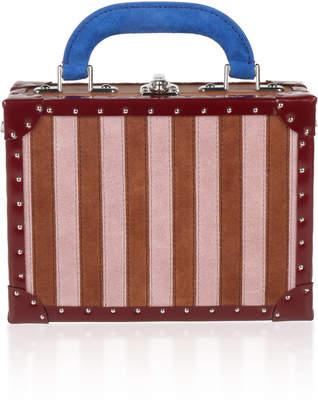Bertoni1949 Suede Stripes Squared Bertoncina Bag
