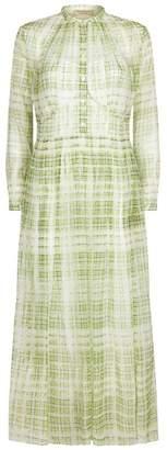 Burberry Check Print Silk Dress