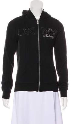 DKNY Hooded Logo-Embellished Jacket