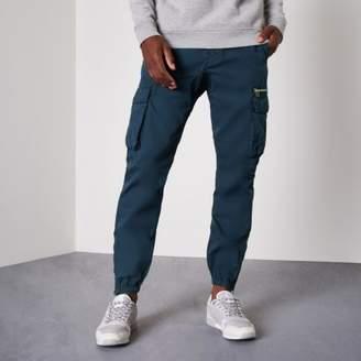 River Island Mens Blue cargo jogger pants