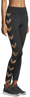 Xersion Metallic Chevron Pattern Knit Leggings