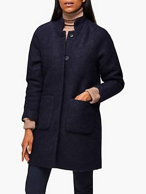 Selected Nashwill Wool Blend Coat, Night Sky