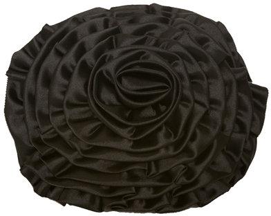 Black Flower Clutch