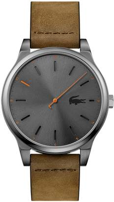 Lacoste Men's Kyoto Watch with Brown Leather Strap