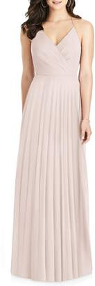Dessy Collection Ruffle Back Chiffon Gown